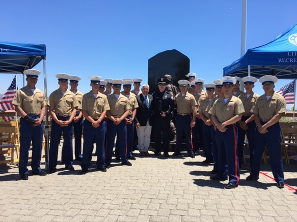 Dress uniforms at the Field of Honor
