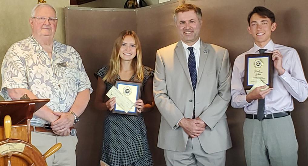 Jerry Nininger, Isabel Glassen, Principal Sean Boulton, Lucas Gretler, Newport Harbor HS